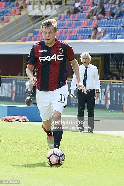 Ladislav Krejci of Bologna FC in action during the Serie a match between Bologna FC and Cagliari Calcio at Stadio Renato Dall'Ara on September 11...