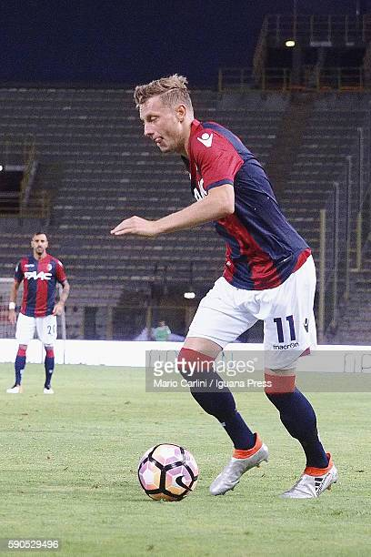 Ladislav Krejci of Bologna in action during the Tim Cup match between Bologna FC andTrapani Calcio at Stadio Renato Dall'Ara on August 12 2016 in...