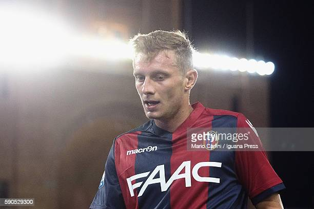 Ladislav Krejci of Bologna looks over during the Tim Cup match between Bologna FC andTrapani Calcio at Stadio Renato Dall'Ara on August 12 2016 in...