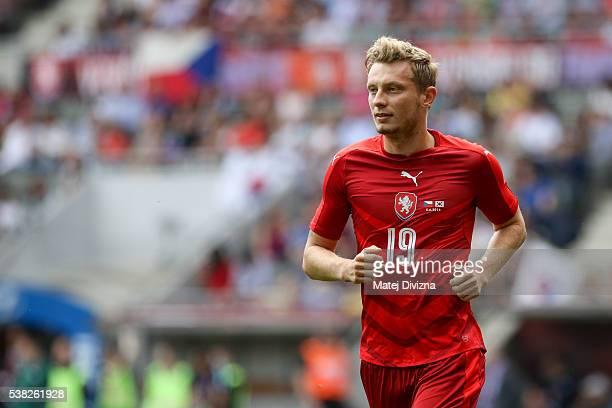 Ladislav Krejci of Czech Republic in action during an international friendly match between Czech Republic and Korea at the Eden Stadium on June 5...