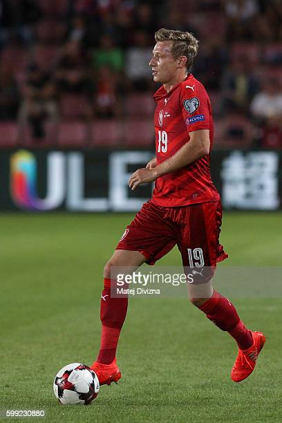 Ladislav Krejci of Czech Republic in action during the 2018 FIFA World Cup Qualifiers Group C match between Czech Republic and Northern Ireland at...