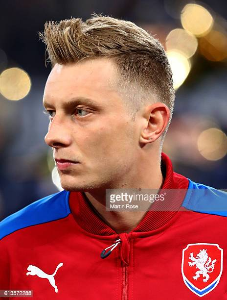 Ladislav Krejci of Czech Republic looks on before the FIFA 2018 World Cup Qualifier between Germany and Czech Republic at Volksparkstadion on October...