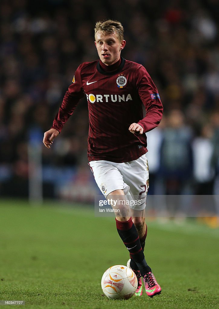 Ladislav Krejci of Sparta Praha in action during the UEFA Europa League Round of 32 second leg match between Chelsea and Sparta Praha at Stamford Bridge on February 21, 2013 in London, England.