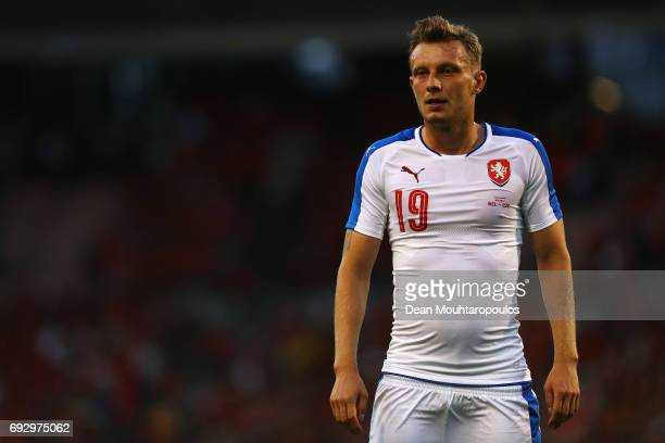 Ladislav Krejci of the Czech Republic in action during the International Friendly match between Belgium and Czech Republic at Stade Roi Baudouis on...