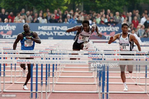 LAdji DOUCOURE / Dayron ROBLES / Samuel COCO VILOIN 100 metres haies Meeting de Sotteville 2008 Lagardere Athle Tour