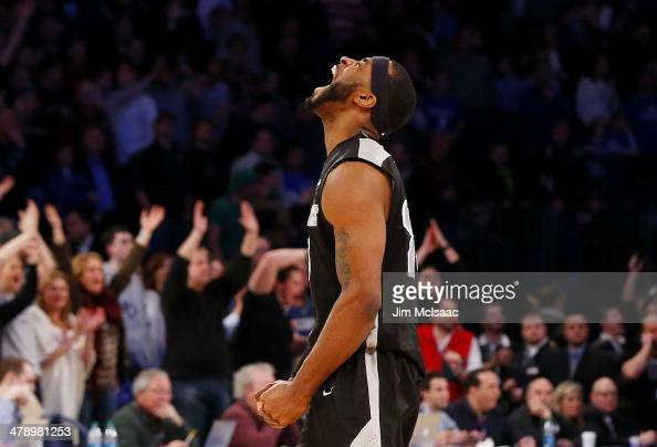 LaDontae Henton of the Providence Friars celebrates in the final seconds of their 65 to 58 win over the Creighton Bluejays during the Championship...