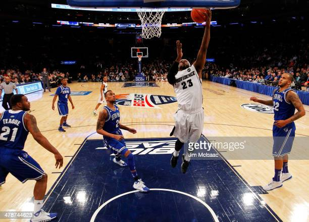 LaDontae Henton of the Providence Friars shoots against the Seton Hall Pirates in the first half during the Semifinals of the 2014 Men's Big East...