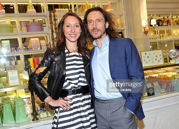 Ladurée copresidents Elisabeth HolderRaberin and David Holder attend the opening of Laduree at The Grove in Los Angeles hosted by Rick Caruso and...