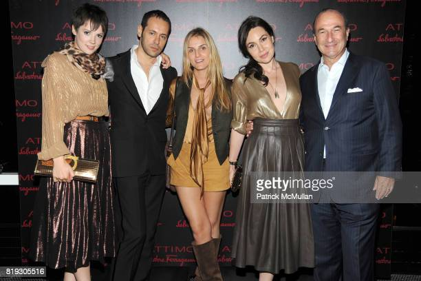 Lady Alice St Clair Erskine Massimiliano Giornetti Gaia Repossi Fabiola Beracasa and Michele Norsa attend SALVATORE FERRAGAMO ATTIMO Launch Event at...