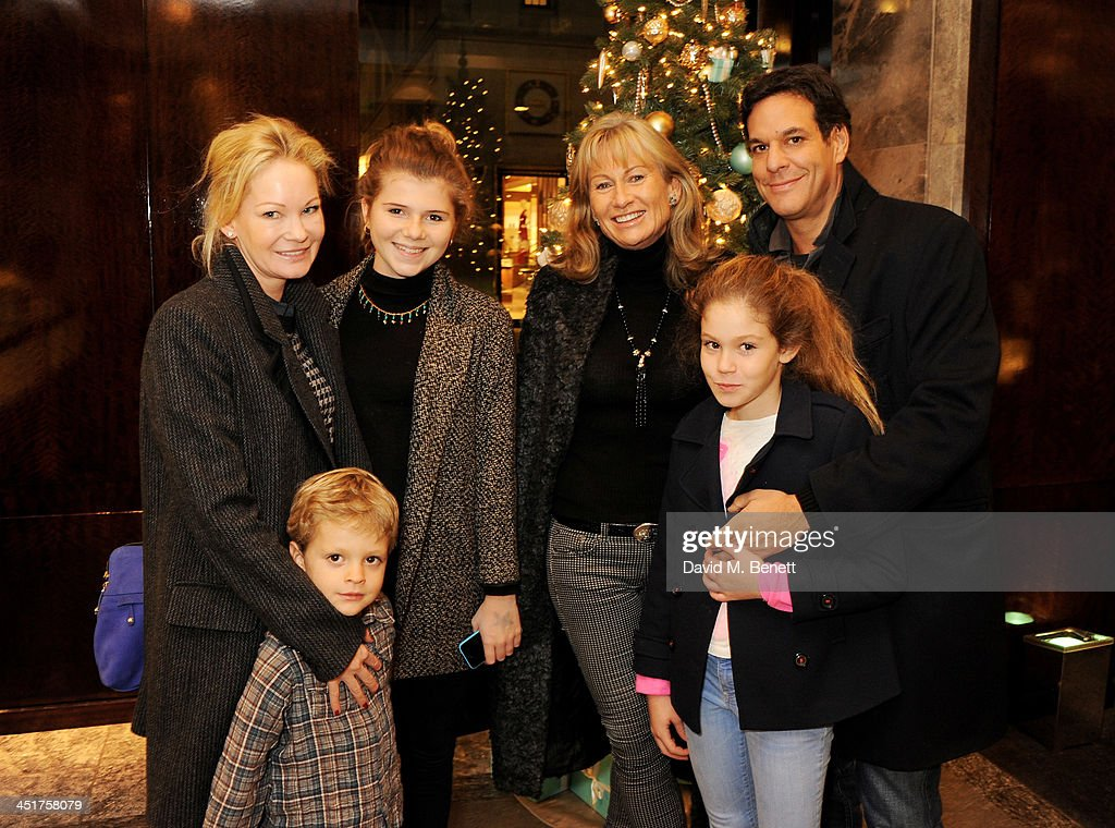 Lady Alison Myners (C) and guests attend as Joely Richardson officially opens the Tiffany & Co. Christmas Shop on Bond Street, London on November 24, 2013 in London, England.