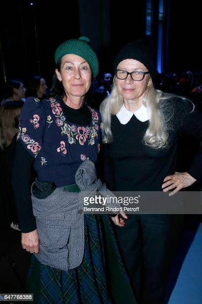 Lady Amanda Harlech and Dominique Issermann attend the Haider Ackermann show as part of the Paris Fashion Week Womenswear Fall/Winter 2017/2018 on...