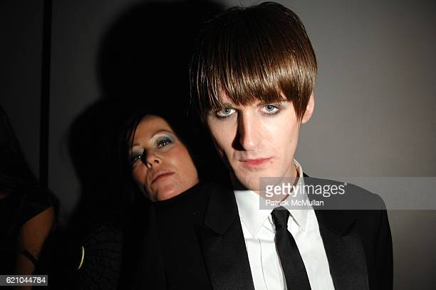 Lady Amanda Harlech and Gareth Pugh attend Nina Ricci after party for Met Ball hosted by Olivier Theyskens and Lauren Santo Domingo at Philippe on...