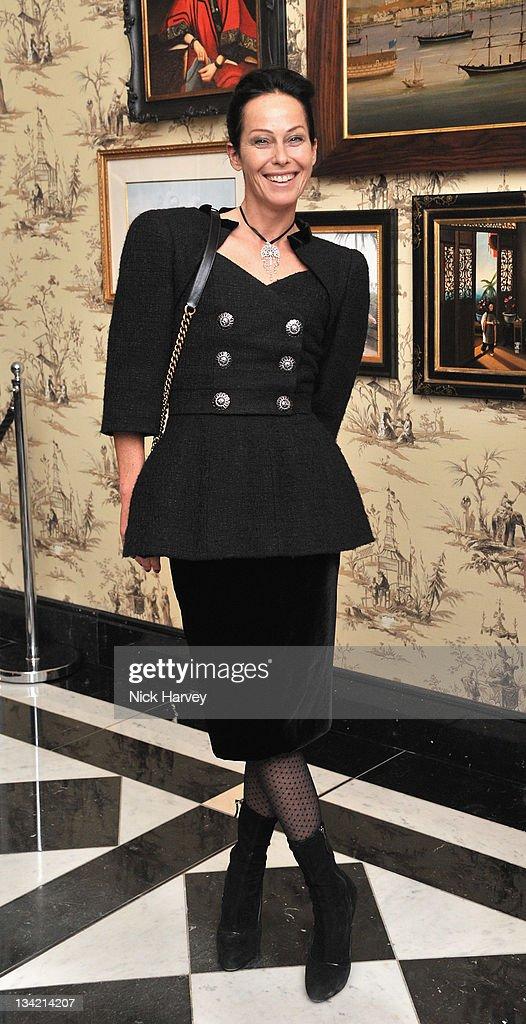 Lady Amanda Harlech arrives at the British Fashion Awards at The Savoy Hotel on November 28, 2011 in London, England.
