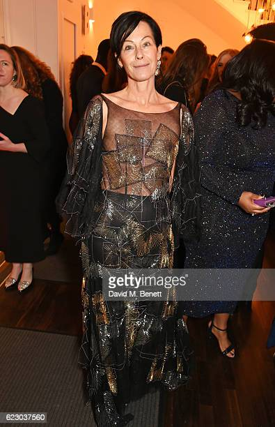 Lady Amanda Harlech attends a cocktail reception at The 62nd London Evening Standard Theatre Awards recognising excellence from across the world of...