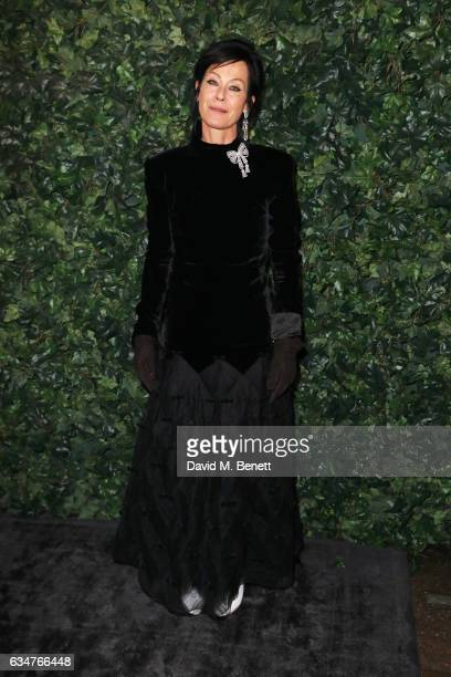 Lady Amanda Harlech attends a pre BAFTA party hosted by Charles Finch and Chanel at Annabel's on February 11 2017 in London England