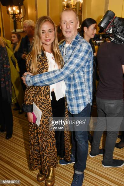 Lady Amelia Windsor and Designer Bill Gaytten attend the John Galliano show as part of the Paris Fashion Week Womenswear Spring/Summer 2018 on...