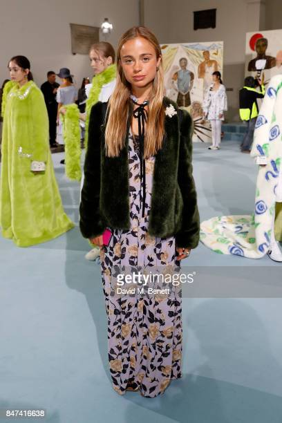 Lady Amelia Windsor attends the Shrimps presentation during London Fashion Week September 2017 at The Swiss Church on September 15 2017 in London...