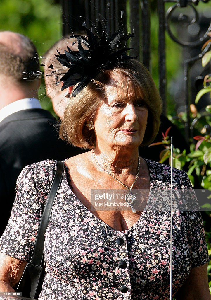 <a gi-track='captionPersonalityLinkClicked' href=/galleries/search?phrase=Lady+Annabel+Goldsmith&family=editorial&specificpeople=622037 ng-click='$event.stopPropagation()'>Lady Annabel Goldsmith</a> leaves her home to attend the wedding of Lord Frederick (Freddie) Windsor to Sophie Winkleman at Hampton Court Palace on September 12, 2009 in London, England.