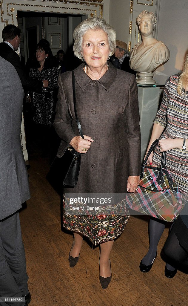 Lady Anne Heseltine attends as Charles Saumarez Smith, Chief Executive of the Royal Academy of Arts, launches his new book 'The Company Of Artists: The Origins Of The Royal Academy Of Arts In London' at The Royal Academy of Arts on October 15, 2012 in London, England.