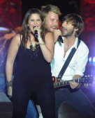 Lady Antebellum L/R Hillary Scott Charles Kelley and Dave Haywood perform at Country Thunder music festival Day 1 on July 21 2011 in Twin Lakes...