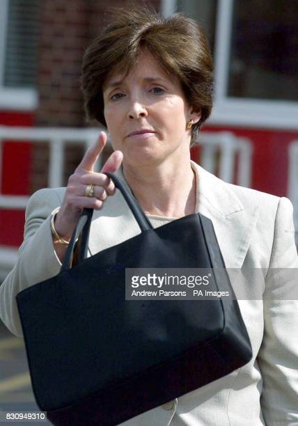 Lady Archer wife of the millionaire novelist Lord Archer arrives at an employment tribunal in Bury St Edmunds Suffolk where her former secretary Jane...