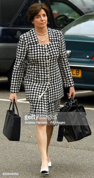 Lady Archer wife of the millionaire novelist Lord Archer arrives at an employment tribunal in Bury St Edmunds Suffolkwhere her former secretary Jane...