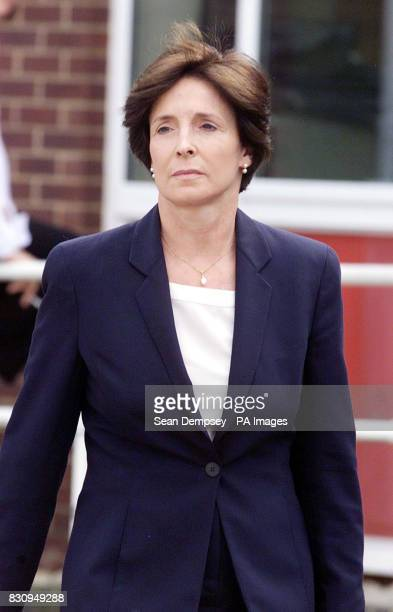 Lady Archer wife of the millionaire novelist Lord Archer leaves for a break at an employment tribunal in Bury St Edmunds Suffolk where her former...