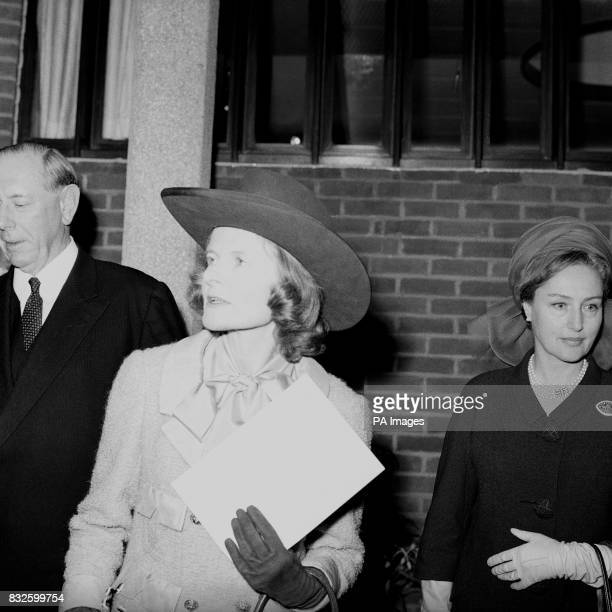 Lady Avon wife of the former Prime Minister wears a 'ten gallon hat when she attends the opening of the Shakespeare Centre an international birthday...