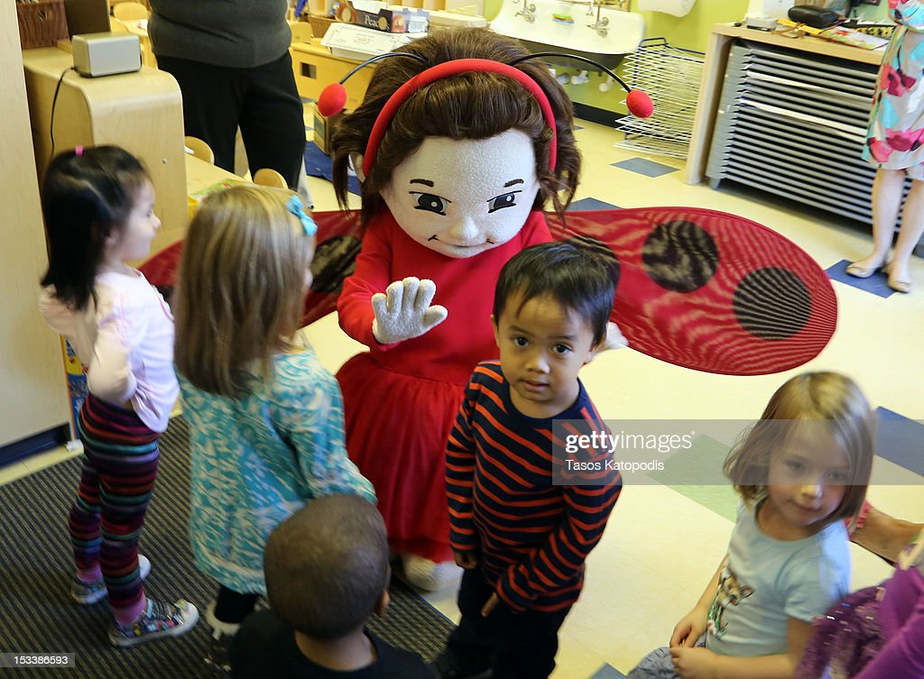 Lady Bug Girl plays with children at Bright Horizons on October 4, 2012 in Chicago, Illinois.