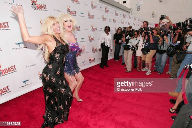 Lady Bunny and Anna Nicole Smith during Comedy Central Roast of Pamela Anderson Red Carpet at Sony Studio in Culver City California United States