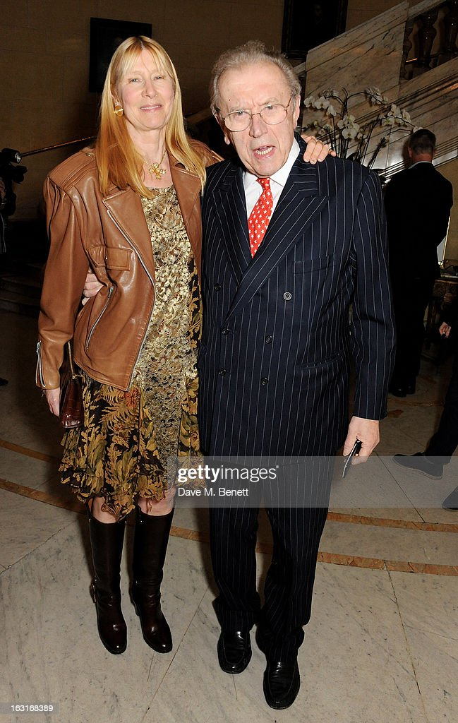 Lady <a gi-track='captionPersonalityLinkClicked' href=/galleries/search?phrase=Carina+Frost&family=editorial&specificpeople=158170 ng-click='$event.stopPropagation()'>Carina Frost</a> (L) and Sir David Frost attend an after party following the press night performance of 'The Audience' at One Whitehall Place on March 5, 2013 in London, England.