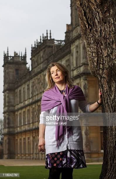 Lady Carnarvon poses in the grounds of Highclere Castle on March 15 2011 in Newbury England Highclere Castle has been the ancestral home of the...