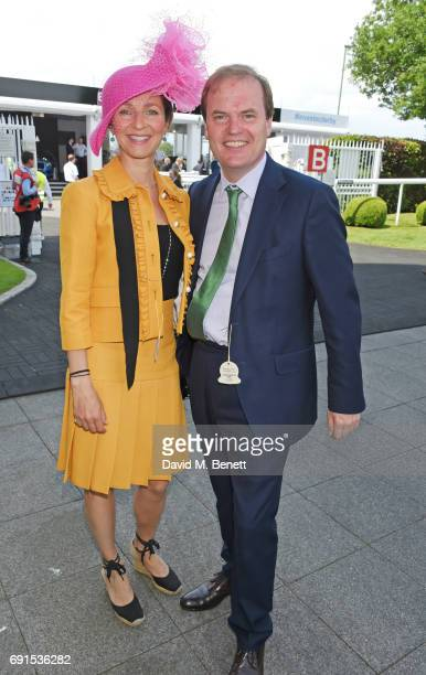 Lady Caroline Dalmeny and Harry Primrose Lord Dalmeny attends Ladies Day of the 2017 Investec Derby Festival at The Jockey Club's Epsom Downs...