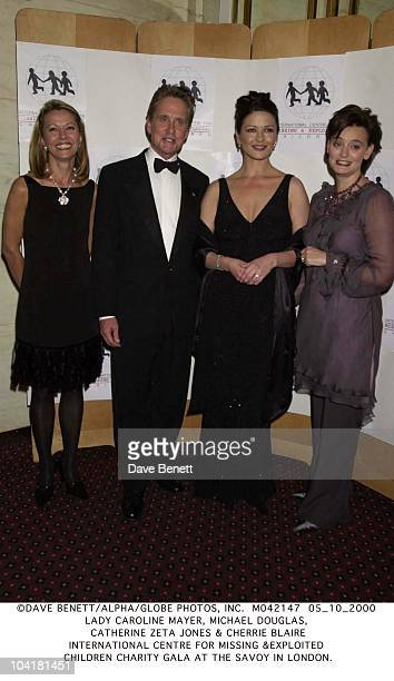 Lady Caroline Mayer Michael Douglas Catherine Zeta Jones Cherrie Blaire International Centre For Missing exploited Children Charity Gala At The Savoy...