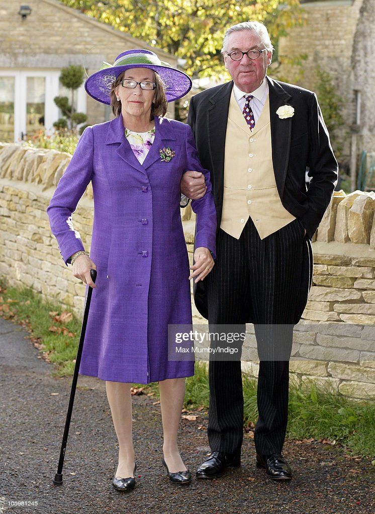 Lady Celia Vestey and Lord Samuel Vestey attend Harry Meade & Rosie Bradford's wedding at the Church of St. Peter and St. Paul on October 23, 2010 in Northleach near Cheltenham, England.
