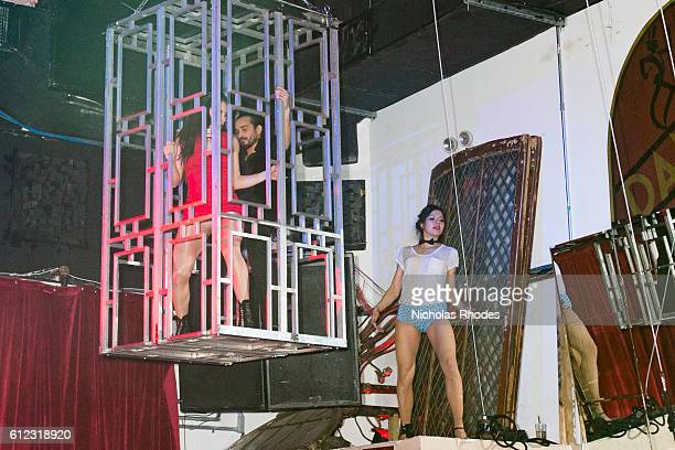 Lady Circurs performs at The Lovers Ball at House of Yes on February 13 2016