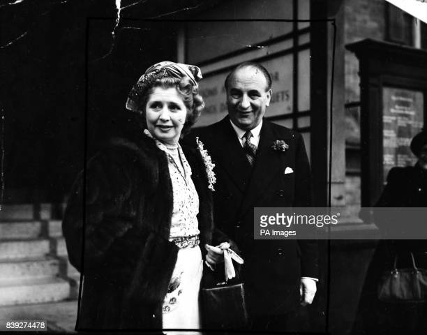 Lady Collins one of England's richest widows was married to Sir Bernard Docker 53 year old chairman of ten companies at Carton Hall London Lady...