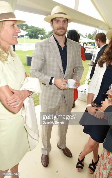 Lady Cowdray and Henry Cavill attend the JaegerLeCoultre Gold Cup Polo Final at Cowdray Park on July 23 2017 in Midhurst England