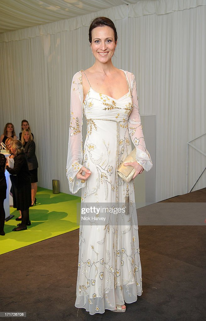 Lady Dalit Nuttall attends the 15th Annual White Tie and Tiara Ball to Benefit Elton John AIDS Foundation in Association with Chopard at Woodside on June 27, 2013 in Windsor, England. No sales to online/digital media worldwide until the 14th of July. No sales before July 14th, 2013 in UK, Spain, Switzerland, Mexico, Dubai, Russia, Serbia, Bulgaria, Turkey, Argentina, Chile, Peru, Ecuador, Colombia, Venezuela, Puerto Rico, Dominican Republic, Greece, Canada, Thailand, Indonesia, Morocco, Malaysia, India, Pakistan, Nigeria. All pictures are for editorial use only and mention of 'Chopard' and 'The Elton John Aids Foundation' are compulsory. No sales ever to Ok, Now, Closer, Reveal, Heat, Look or Grazia magazines in the United Kingdom. No sales ever to any jewellers or watchmakers other than Chopard.