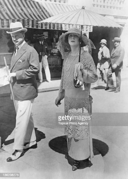 Lady Diana Cooper with her husband Conservative politician Alfred Duff Cooper August 1923
