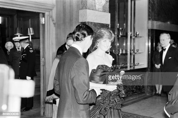 Lady Diana Spencer attended her first public engagement tonight when she joined Prince Charles at a Gala Charity Concert at the Goldsmith's Hall...