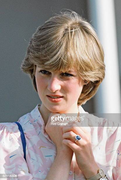 Lady Diana Spencer Before Becoming Princess Diana At Guards Polo Club In Windsor She Is Wearing A New Watch And Gold Bracelet Which Were Birthday...