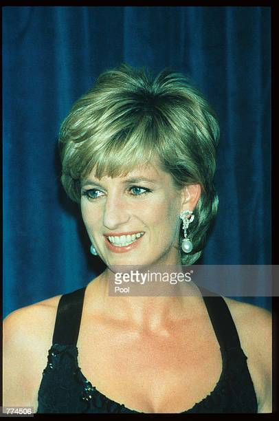 Lady Diana Spencer smiles at the 41st annual United Cerebral Palsy Awards gala December 11 1995 in New York City Lady Diana the Princess of Wales...