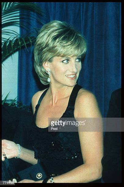 Lady Diana Spencer stands at the 41st annual United Cerebral Palsy Awards gala December 11 1995 in New York City Lady Diana the Princess of Wales...