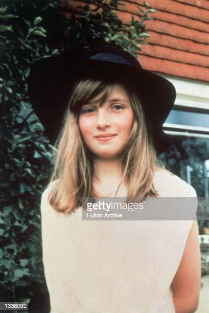 Lady Diana Spencer the future Princess of Wales during a summer holiday in 1971 in Itchenor West Sussex in Britain