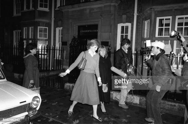 Lady Diana Spencer who is engaged to Prince Charles is hounded by the media at her flat in Coleherne Court in November 1980