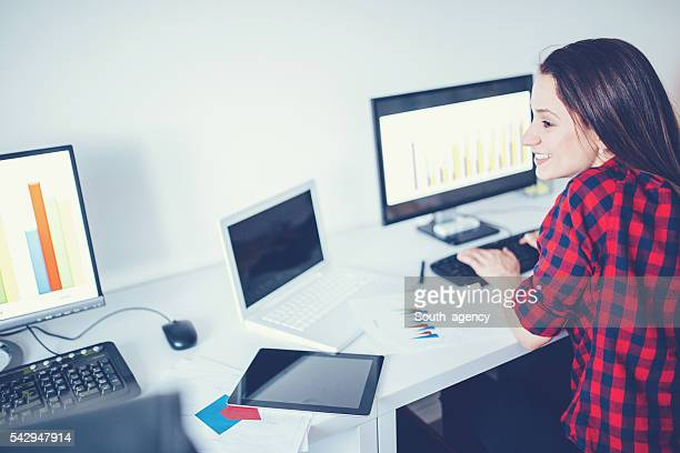 Lady doing office work
