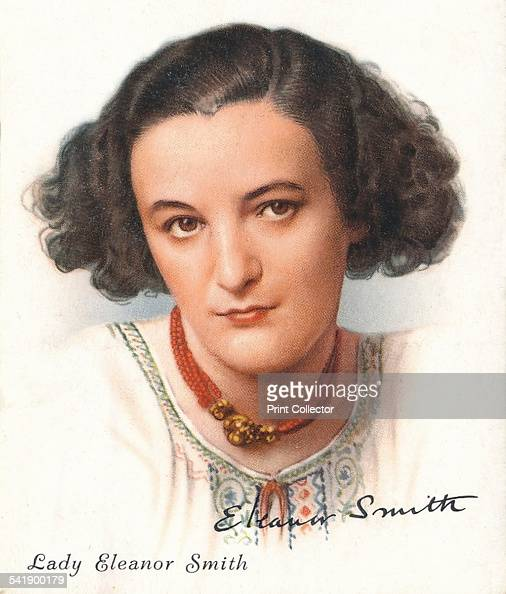 Lady Eleanor Smith English writer 1937 Cigarette card 33 of 40 from Famous British Authors published by WD HO Wills A promotional item issued by the...