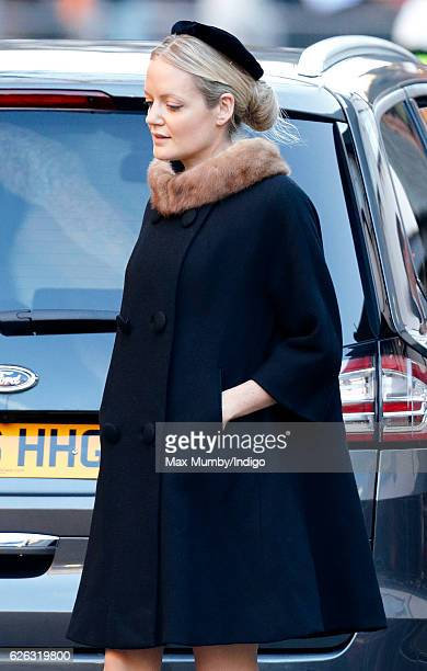 Lady Eloise Anson attends a Memorial Service for Gerald Grosvenor 6th Duke of Westminster at Chester Cathedral on November 28 2016 in Chester England...