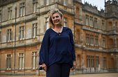 Lady Fiona Carnarvon owner of Highclere Castle poses for a photograph at the castle in Highclere southern England on May 12 2016 As Britain mulls...